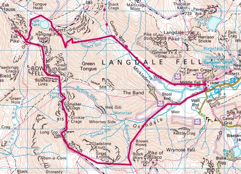 Langdale Crinkle Crags