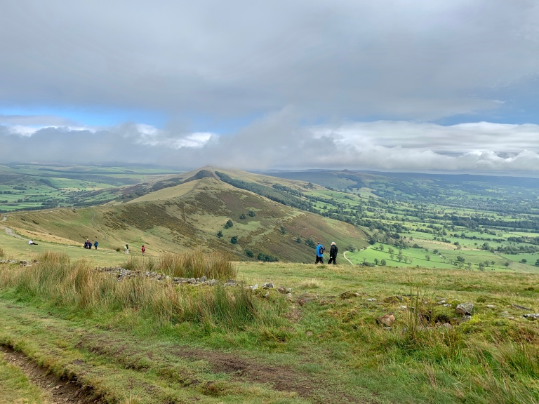 View as we joined the stone steps to Mam Tor