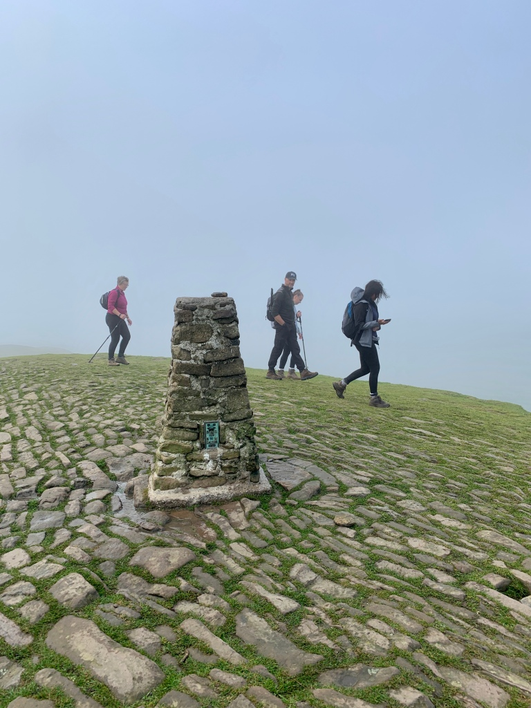 At the top of Mam Tor