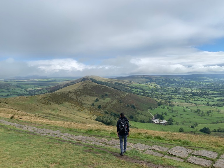 Stone steps which leads to Mam Tor to the right