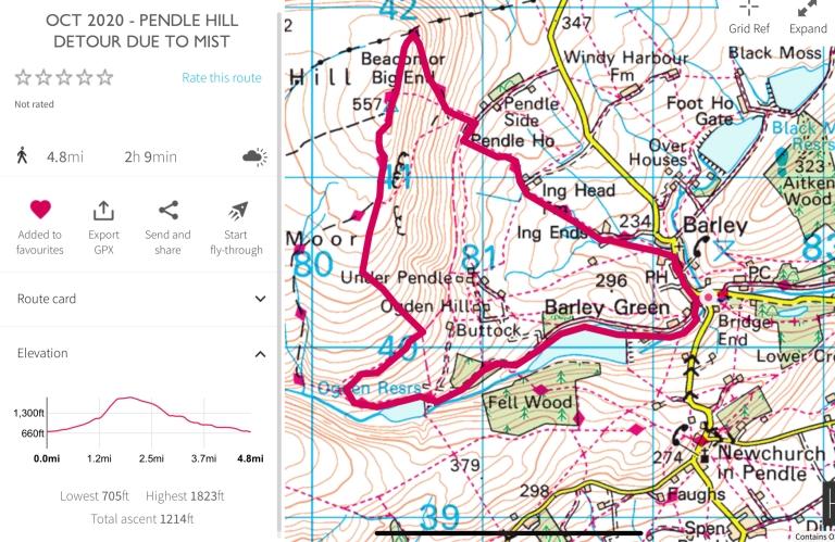 Pendle hill trail